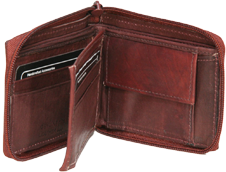 Zipped Bi-fold Wallets