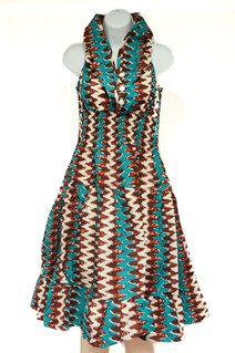 Sleeveless Dress with Scarve Style #1487