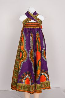 Big Elastic Skirt with Headwrap- Dhashiki Print Style #12558